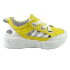 Кроссовки Arcoboletto 055 BEW 560500 Белые Желтые