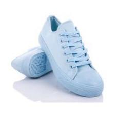 Кеды женские  голубого цвета